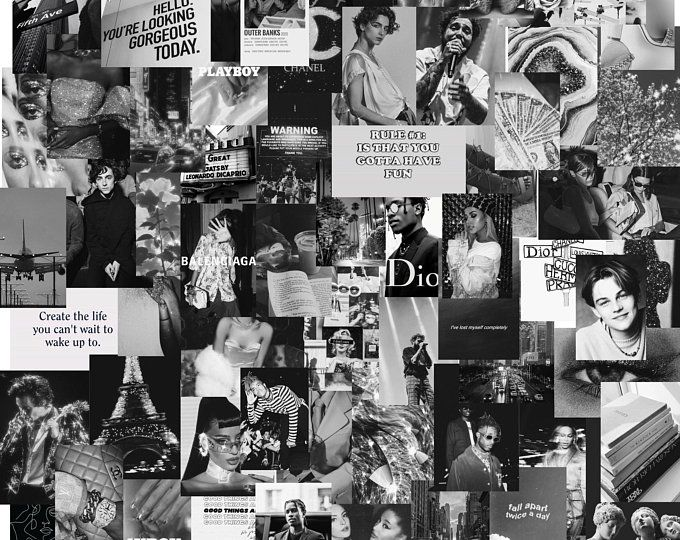black collage kit wall decor kit 46 images