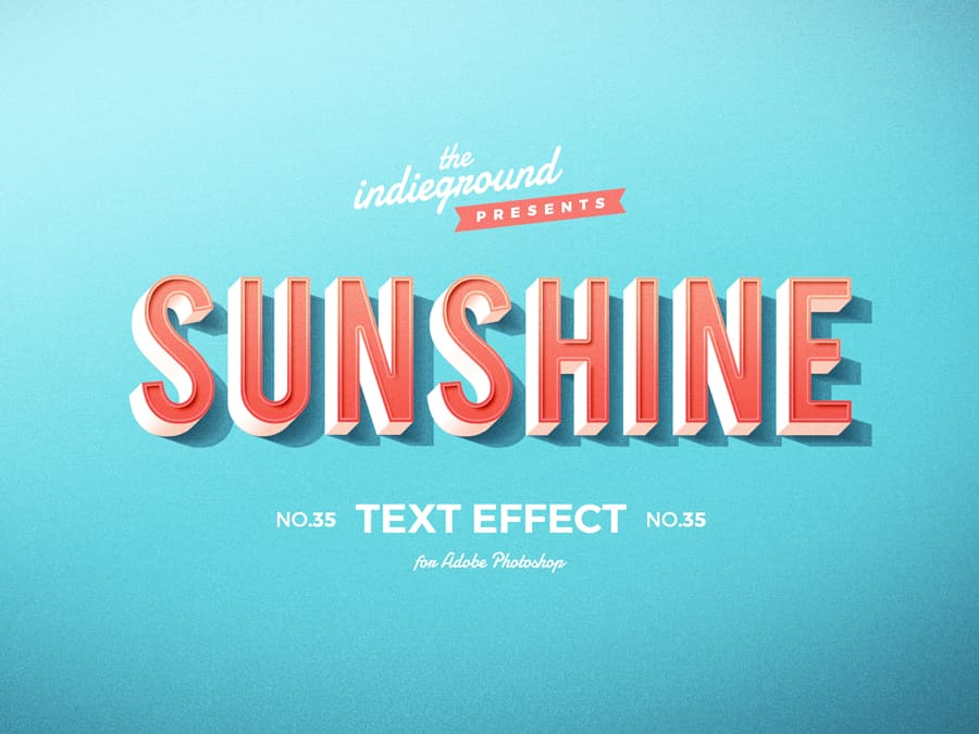 Retro Vintage Text Effect N 35 Indieground Design Retro Text Text Effects Vintage Text