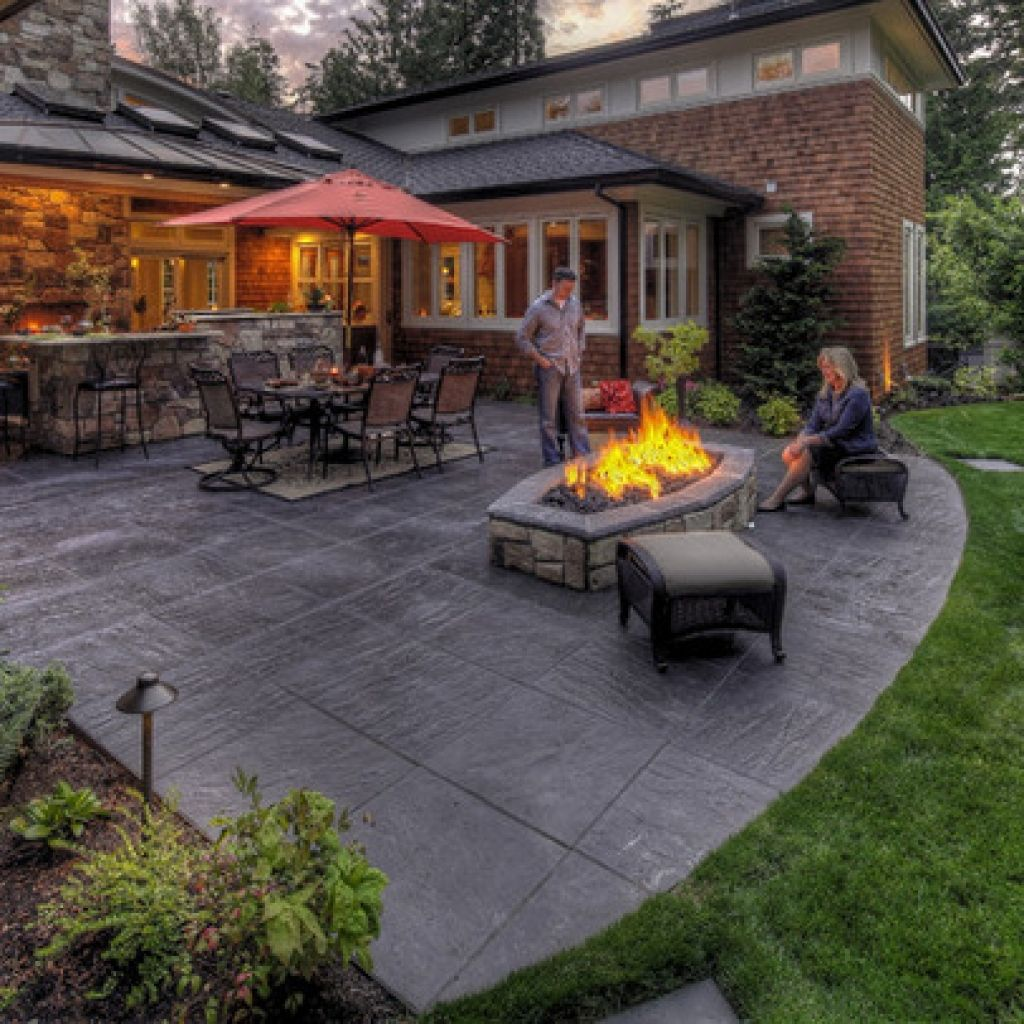 Perfect Stamped Concrete Backyard Ideas Stamped Concrete