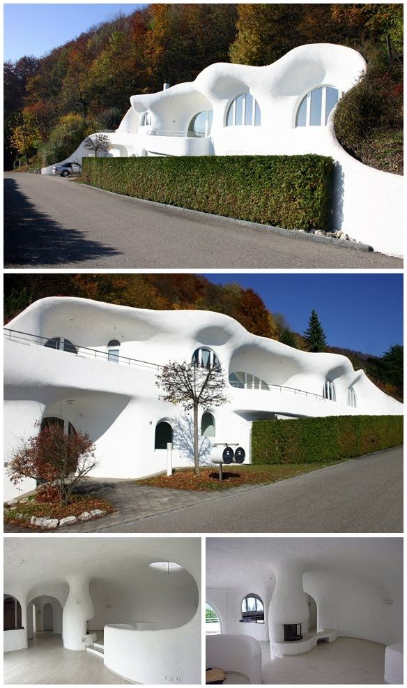 Nice Futuristic Earth House. Lostorf, Suiza. Architect, Peter Vetsch. Ideas