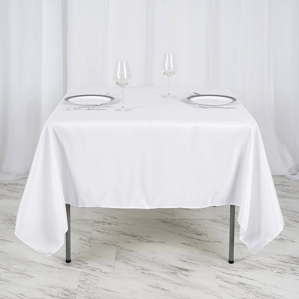 70 White Premium Square Polyester Tablecloth Christmas Table Cloth Easter Table Decorations Tablecloth Sizes