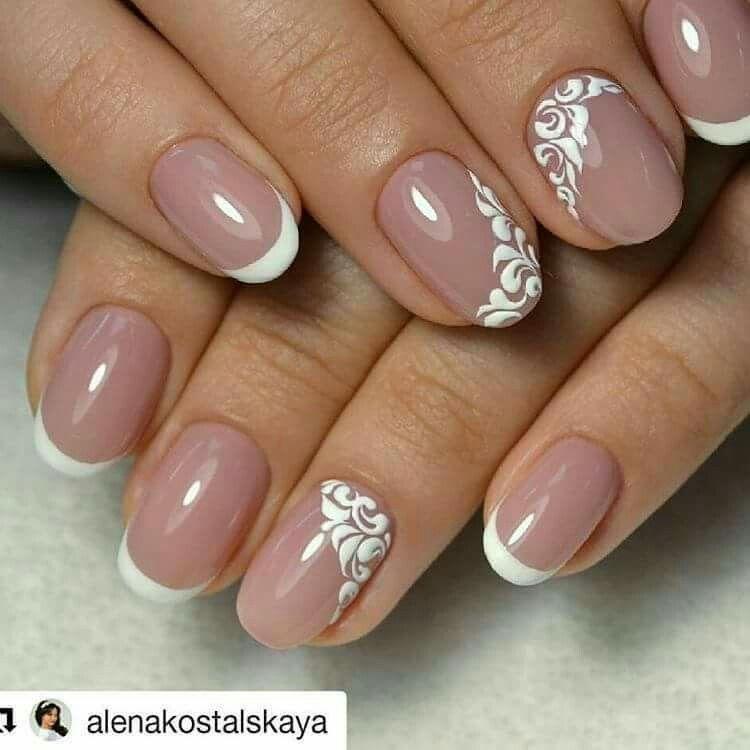 32 most beautiful bridal Wedding nails design ideas for