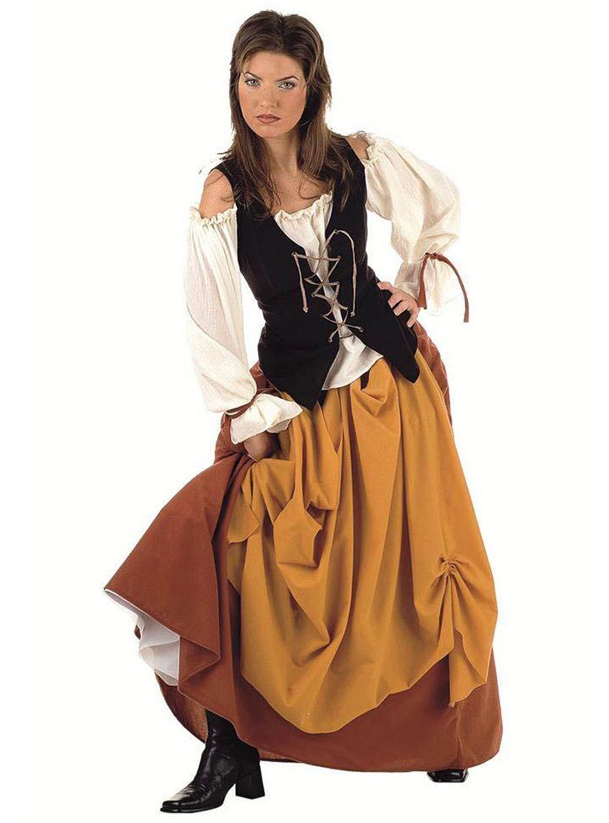 Costume Da Contadina Medievale A Da Inserire V Costumi