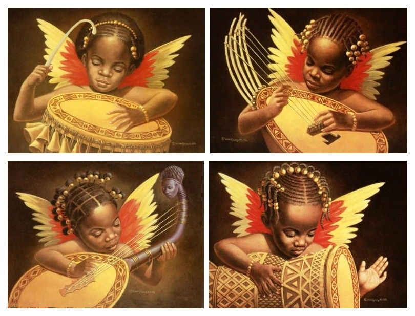 I like these four African-American art prints by Wolfgang ...