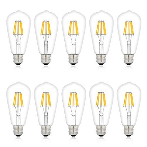 Mzd8391 St64 8w Vintage Led Filament Light Bulb Edison Style To Replace 80w Incandescent Bulb Warm White2700k 11 Filament Bulb Lighting Incandescent Bulbs Bulb