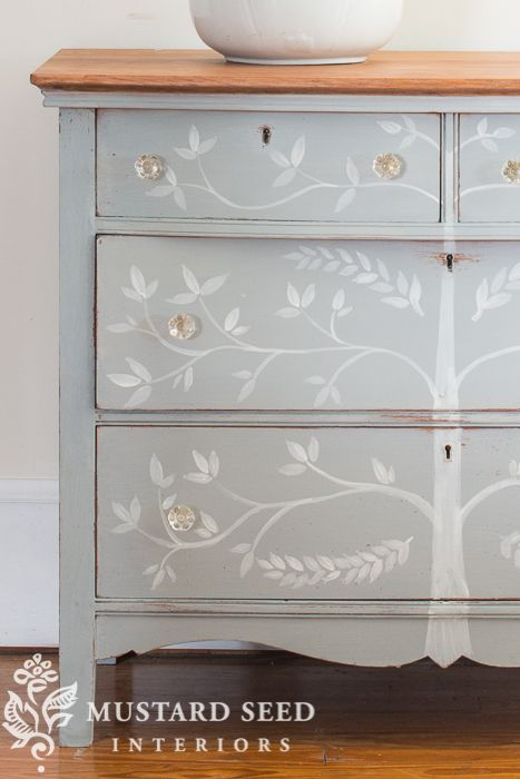 The Dresser With The Tree Painted Furniture Designs Stencil
