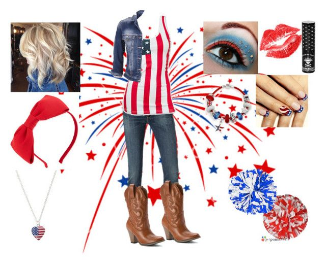 """""""'Merica Day-- St. Pete High School Homecoming Week"""" by lizzybunny18 ❤ liked on Polyvore featuring Kate Spade, Manic Panic, MIA, maurices and Bling Jewelry"""