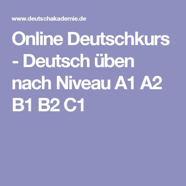 online deutschkurs deutsch 252ben nach niveau a1 a2 b1 b2