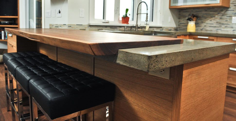 Walnut Wood And Concrete Countertop By Yves St Hilaire Cheng