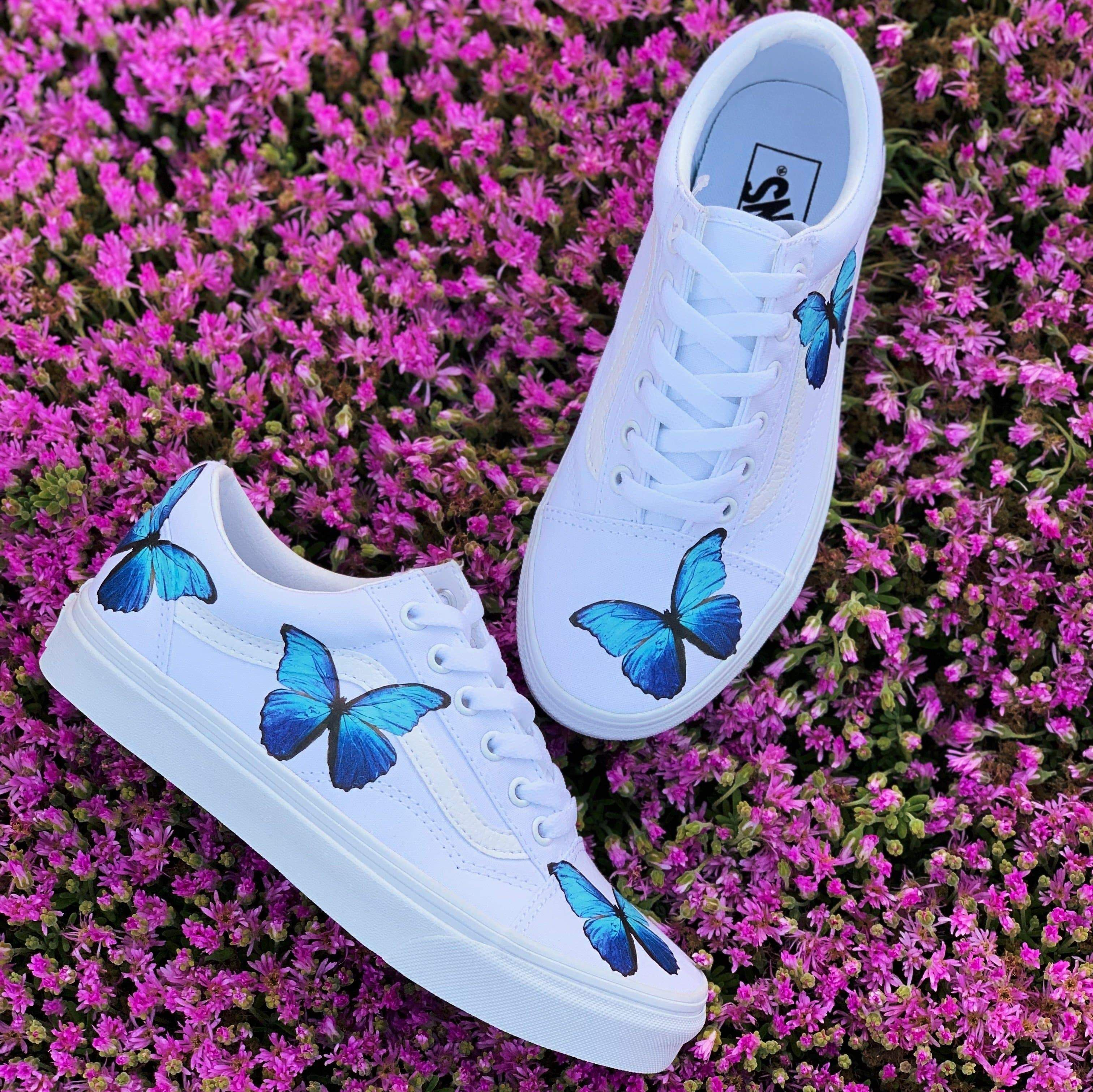 Butterfly shoes, Vans shoes old skool