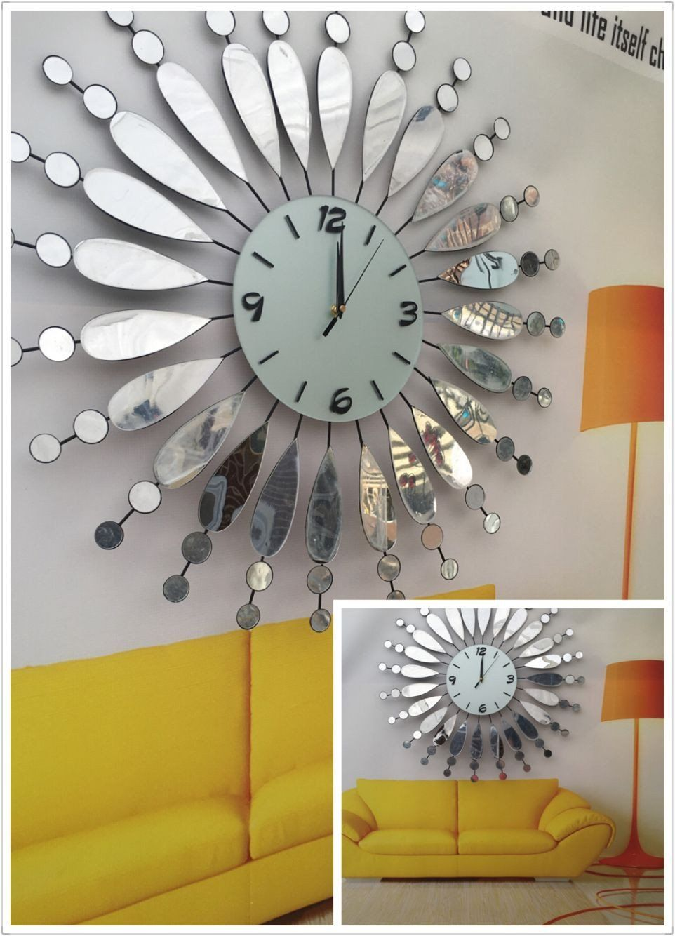 Decorating With Large Wall Clocks Elegant Beutiful Large Mirror