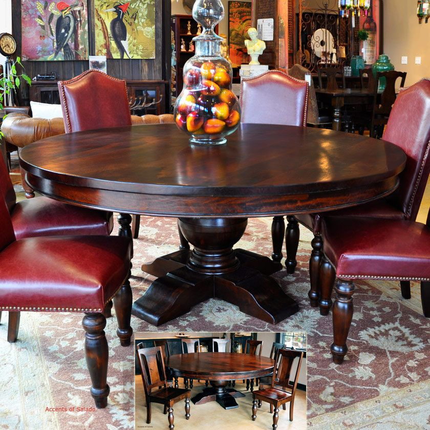 Tuscan Style Dining Room Furniture: Dining Room Tables Large Round Dining Table French Country