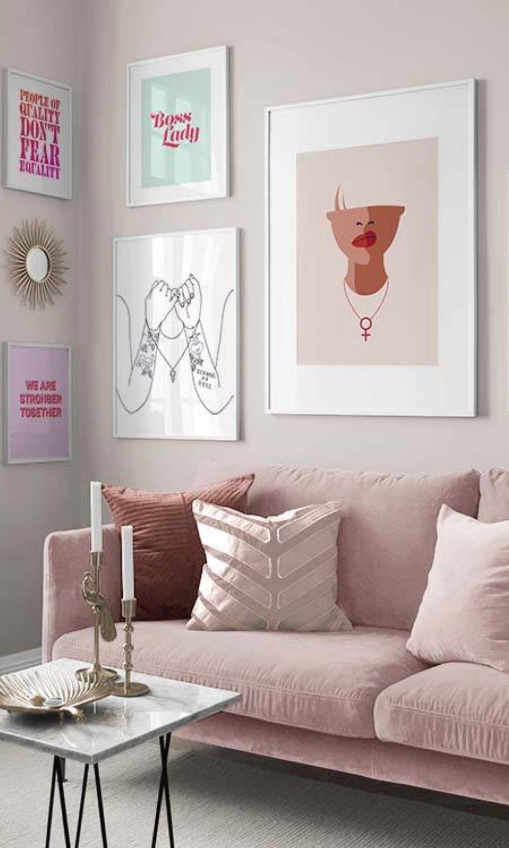 Creer Un Mur Photo créer votre mur de cadres avec desenio | idee deco, salle de