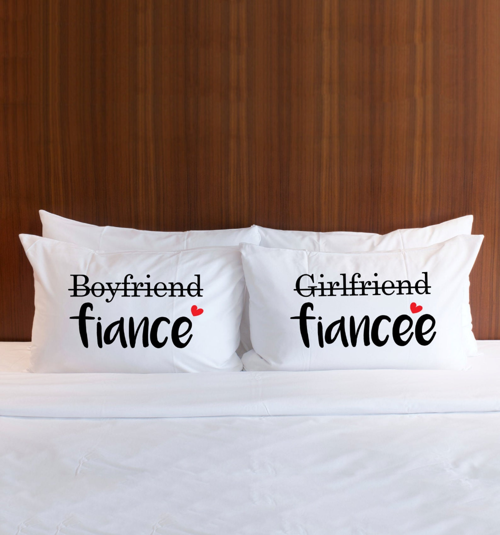 Couples Pillowcases Engagement Gift