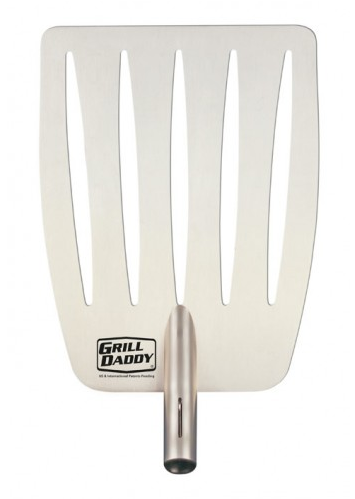 Grill Daddy Barbecue Spatula Attachment is perfect for grilling everything from steak to fish to vegetables. Made of stainless steal, it helps prevent food breakage while lifting and turning. #GripIt #FlipIt