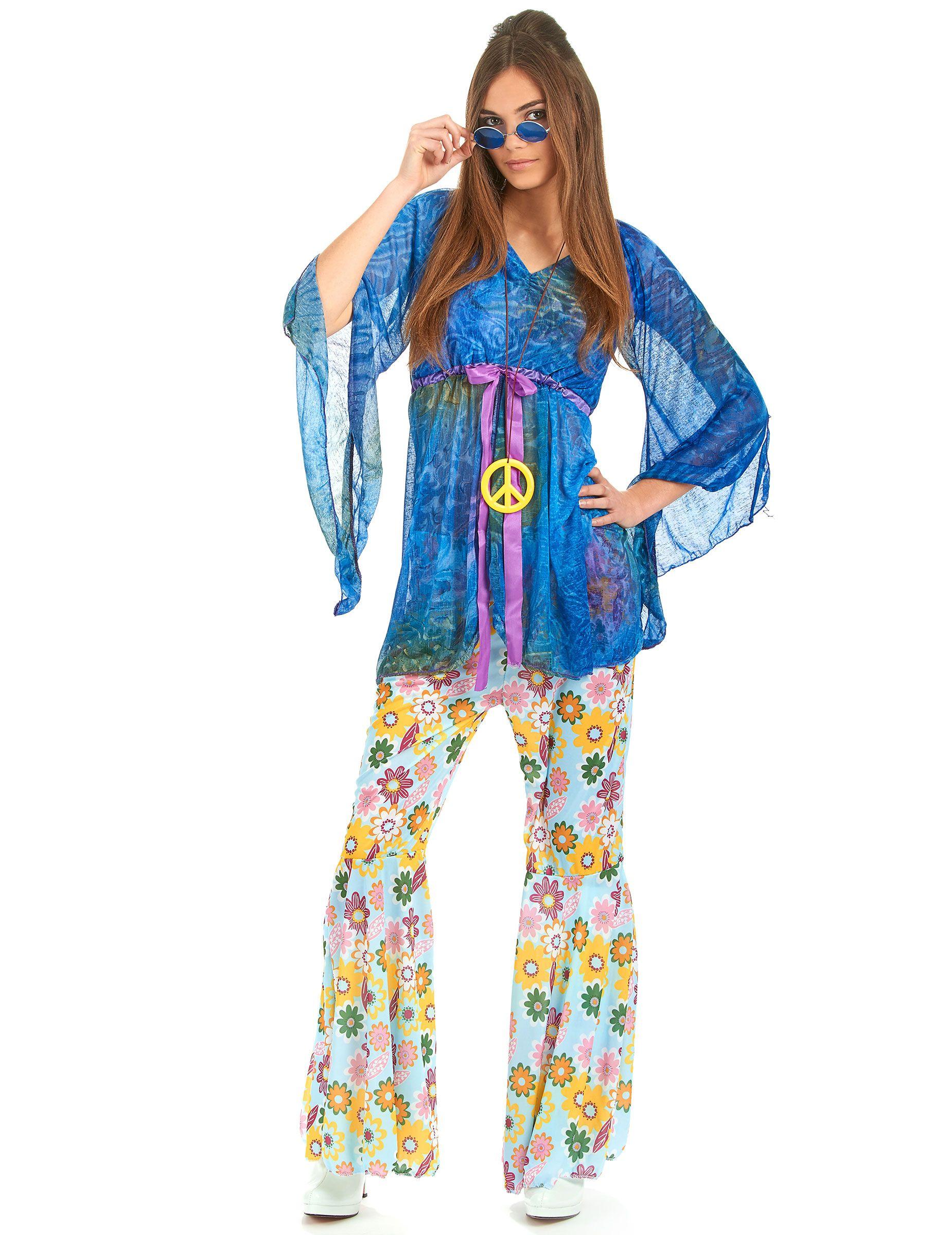 Disfraz de hippie estilo flower power para mujer for Disfraz de hippie