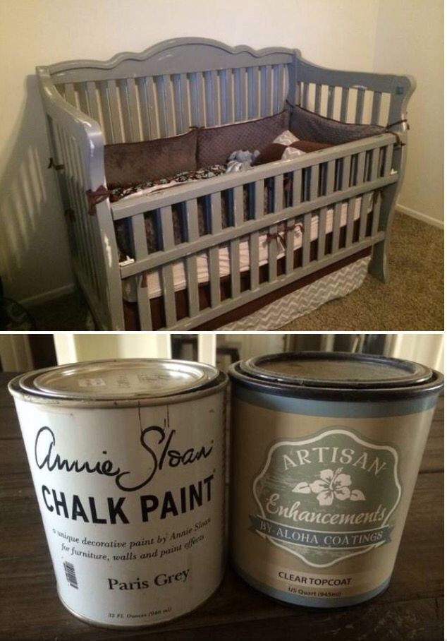 Painted Distressed Baby Crib Annie Sloan Paint 4 Parts