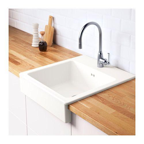 DOMSJÖ Onset sink, 1 bowl, white Sinks, Kitchens and Laundry - ikea küchen landhaus