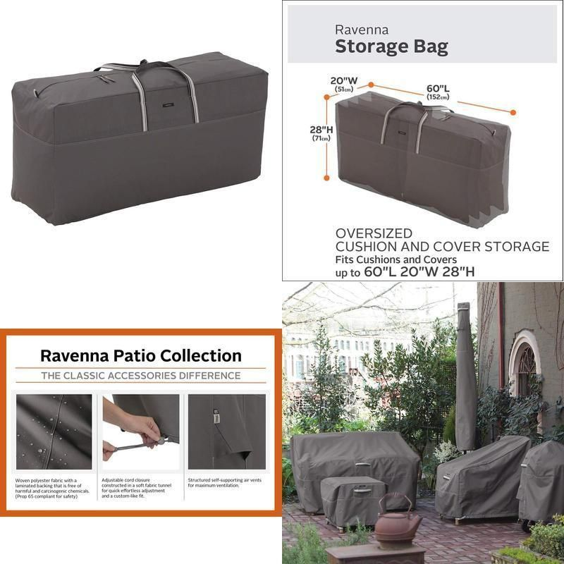 Classic Accessories Ravenna Oversized Cushion Cover Storage Bag