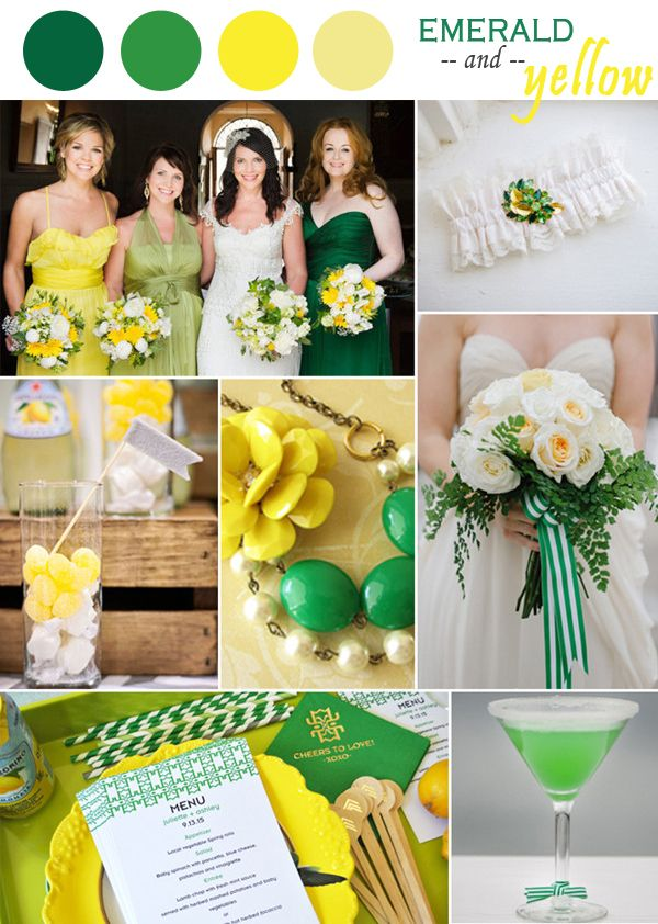 Emerald Green And Yellow Wedding Ideas
