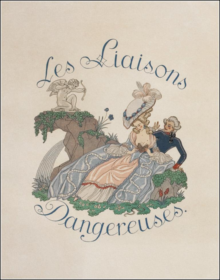 George Barbier 1882 1932 Choderlos De Laclos Les Liaisons Dangereuses 1782 Le Vasseur Et Art Deco Illustration Dangerous Liaisons Vintage Illustration