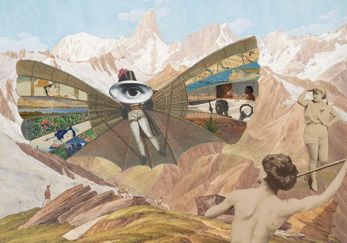 Collage Poster Traveler Kolaz Plakat Dekoracyjny Podroznik