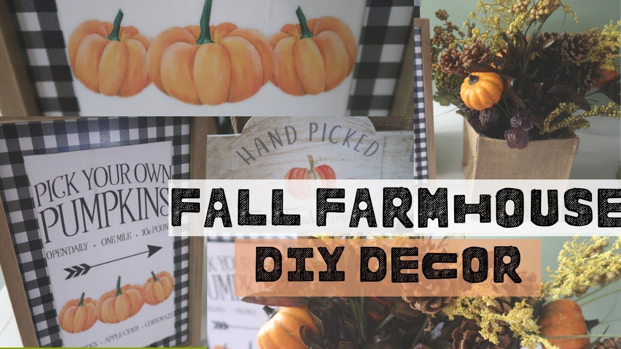 FARMHOUSE FALL DECOR DIYS WALMART FALL DIYS FARMHOUSE