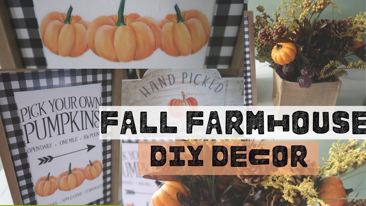 FARMHOUSE FALL DECOR DIYS WALMART FALL DIYS FARMHOUSE