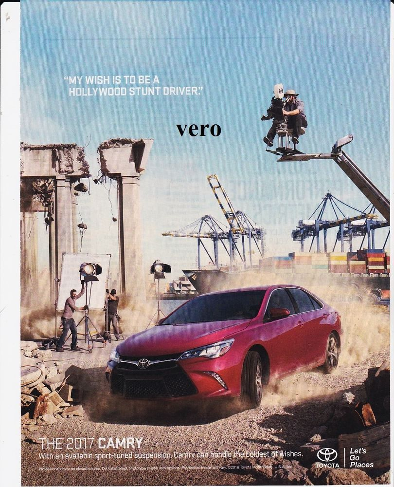 TOYOTA CAMRY 2017 magazine ad print art 2016 poster page ...