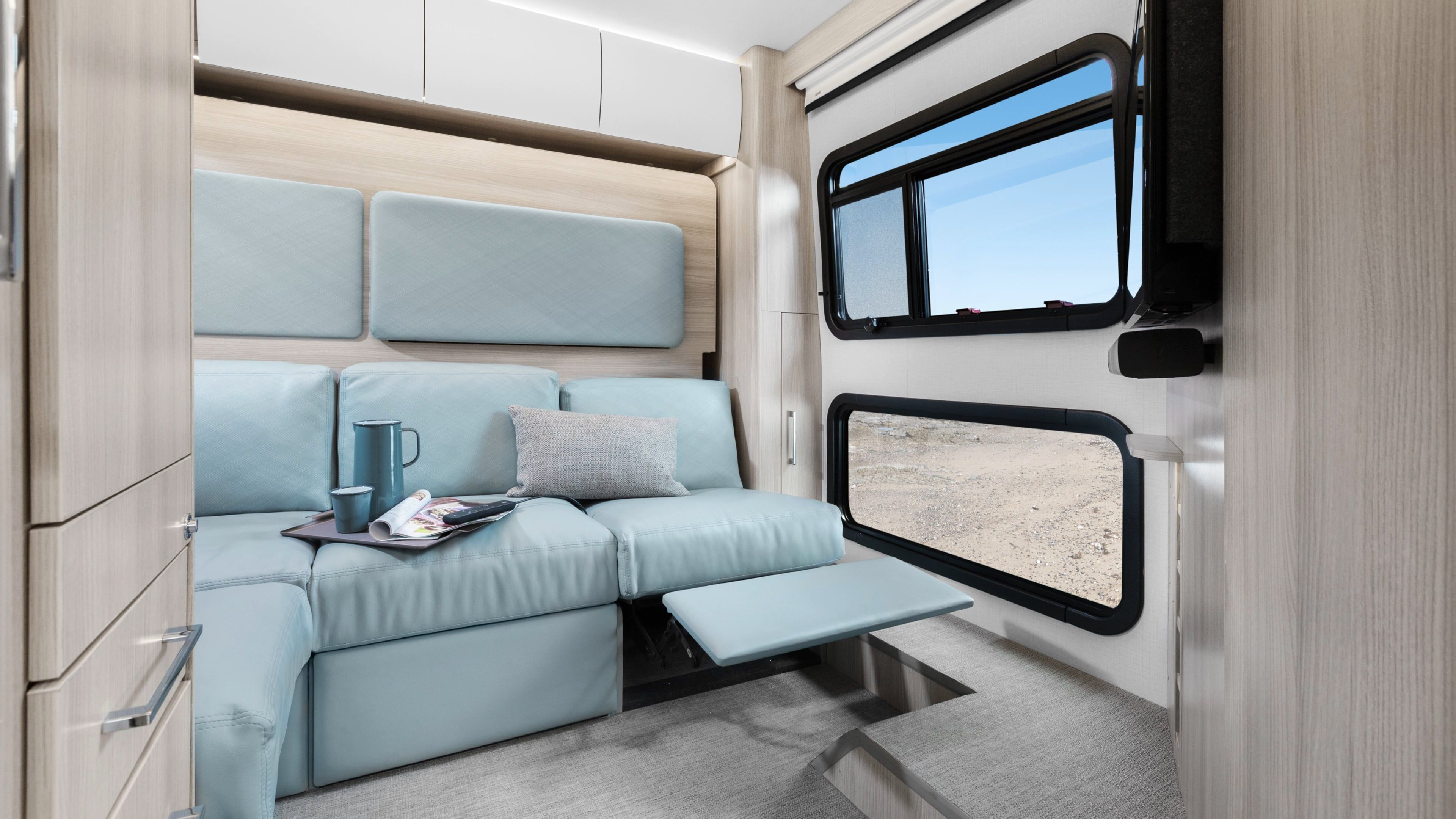 Unity Rear Lounge Leisure travel vans, Space saving