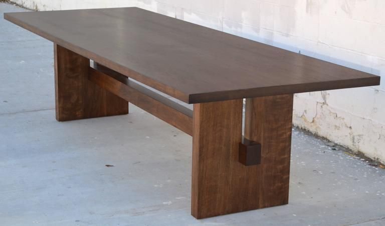 Black Walnut Trestle Table Custom Made By Petersen Antiques