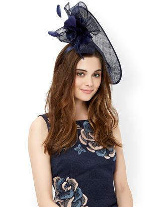 f0bada636 Aurora Disc and Flower Fascinator   Navy   Monsoon   tips and style ...