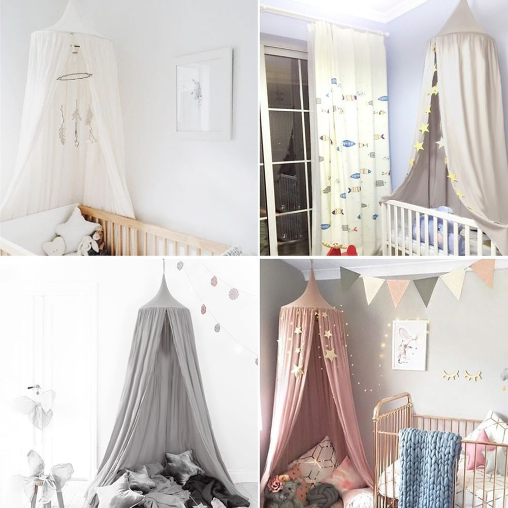 Elegant Bed Canopy Netting Curtain Fly Midges Insect Cot Mosquito Dome Net