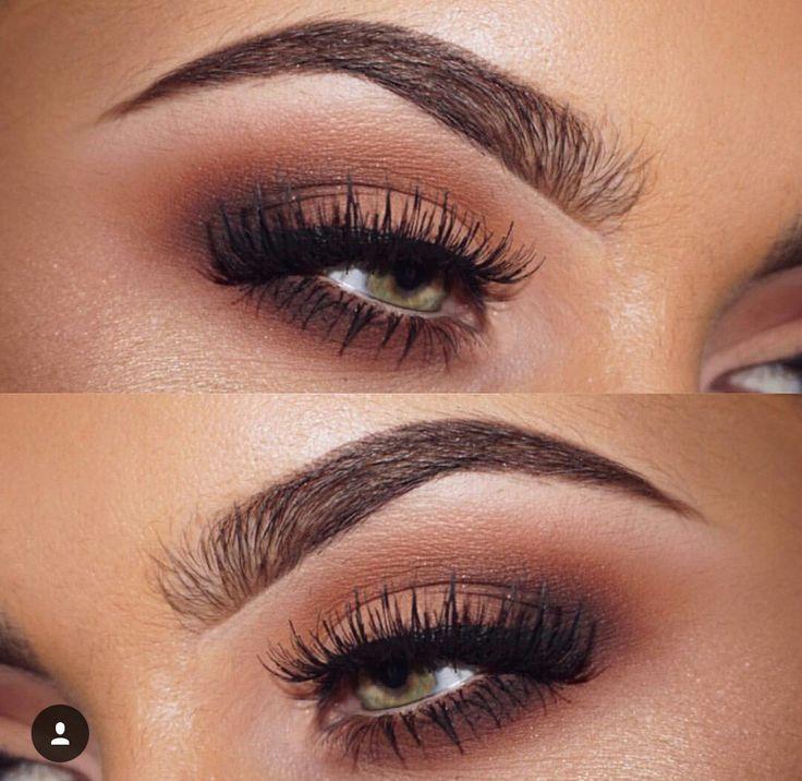 Warm Reddy Brown Smokey Smokey Eye Makeup Eye Makeup Smokey Eye For Brown Eyes
