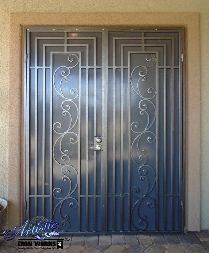 Prato Wrought Iron Security Screen Double Doors Fd0143 Wrought Iron Security Doors Security Screen Door Iron Security Doors