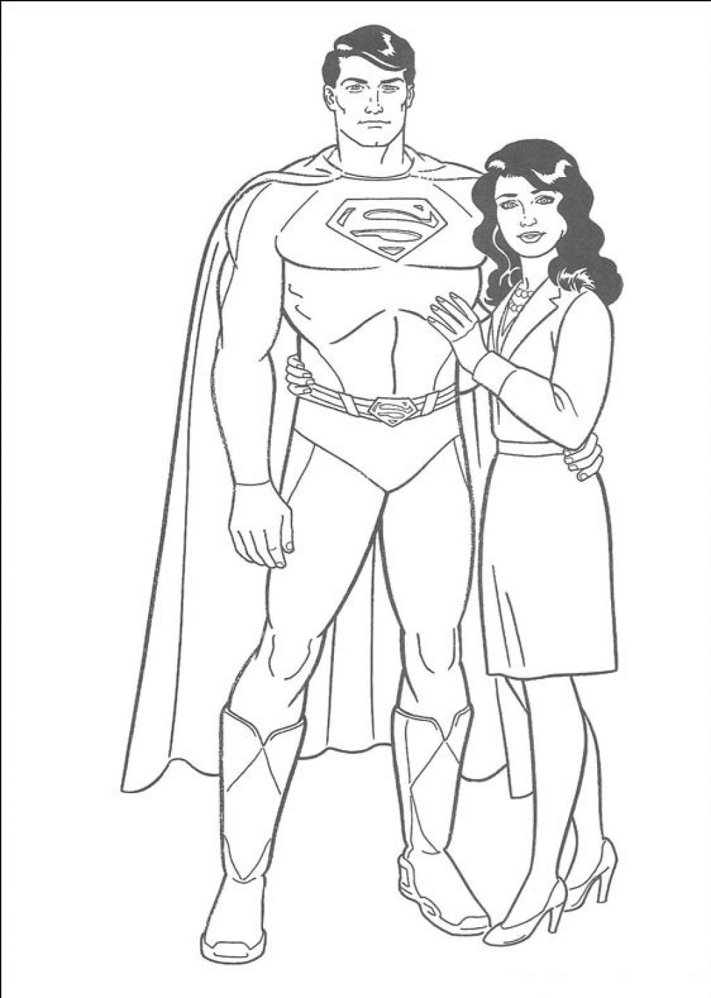 Superman And Jane Coloring Pages Superman Coloring Pages Coloring Pictures For Kids Coloring Pages