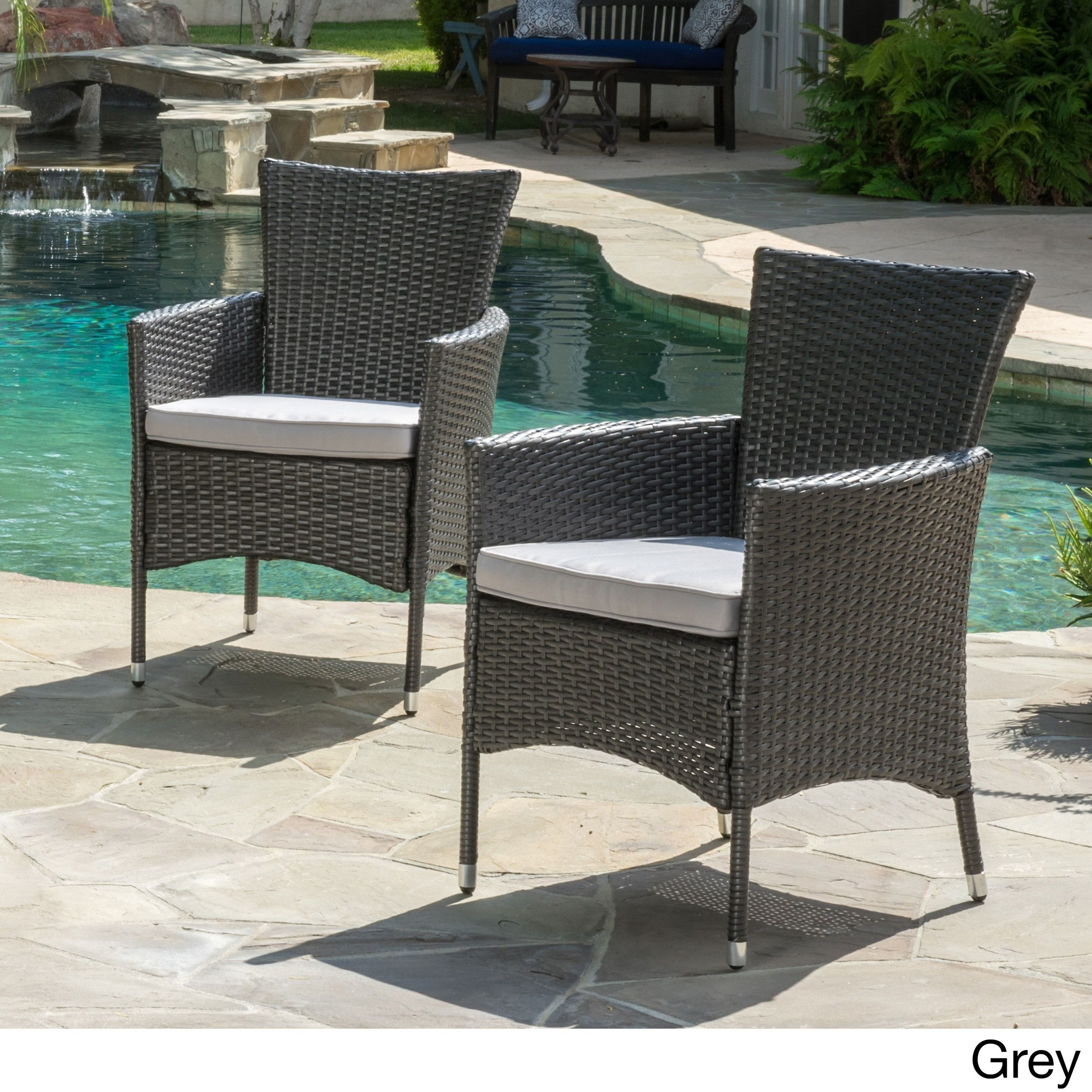 chair covers malta p company outdoor wicker dining with cushions set of 2 by christopher knight home grey patio furniture