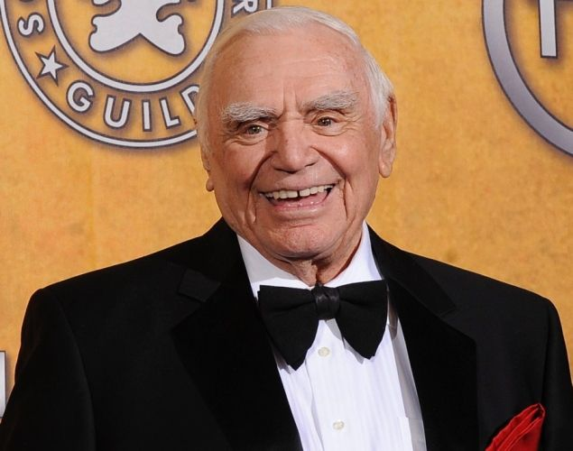 """Ernest Borgnine, an Oscar winning actor best known for his role as the butcher in the 1955 film """"Marty,"""" died of renal failure on July 8, 2012. He had built one of the most versatile screen careers of the last 60 years, appearing in movies, TV shows and voicing the character of Mermaid Man on """"SpongeBob Squarepants."""" He was 95."""