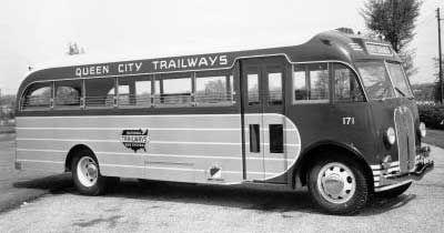 Queen City Trailways Fitzjohn Retro Bus Bus Terminal Bus Stop Taxi Motorhome