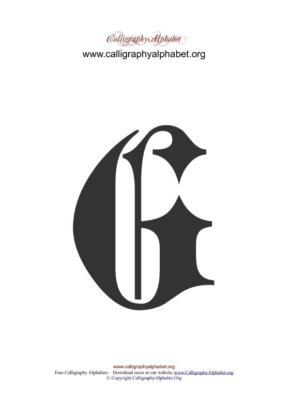 Fancy Calligraphy G : fancy, calligraphy, Gothic, Calligraphy, Graphic, Templates, Letter, Tattoo,