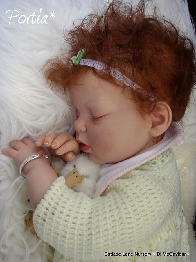 Red head baby doll