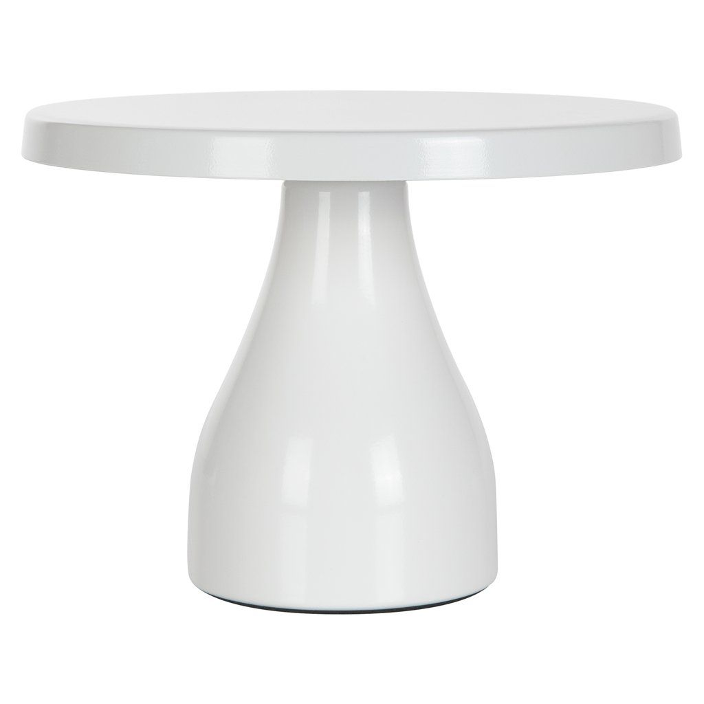 8 Inch Round Modern Metal Cake Stand White In 2020 Metal Cake Stand Cake Stand Dessert Table Decor