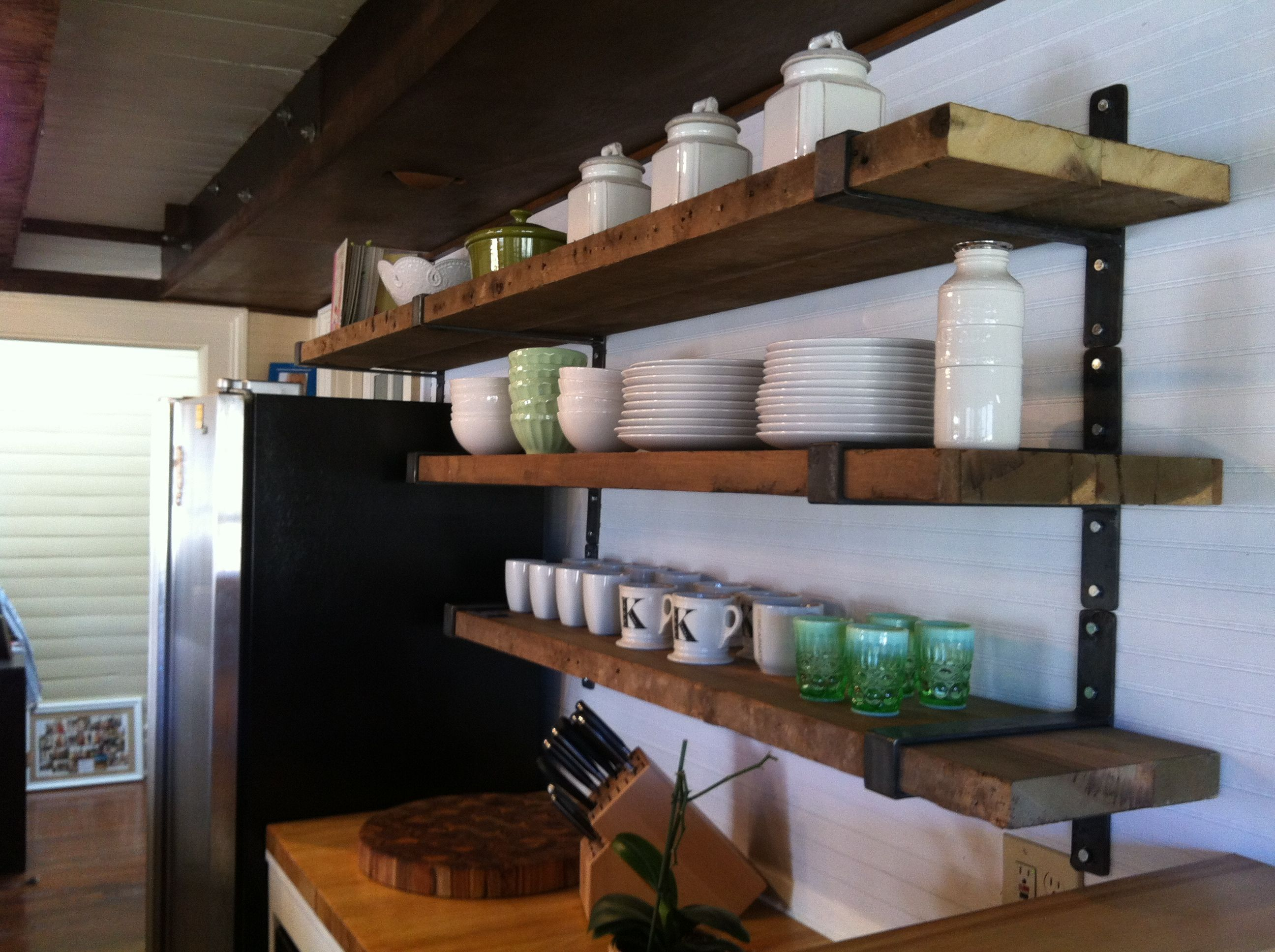 Great shelves love for tall ceilingtiny kitchen kitchens