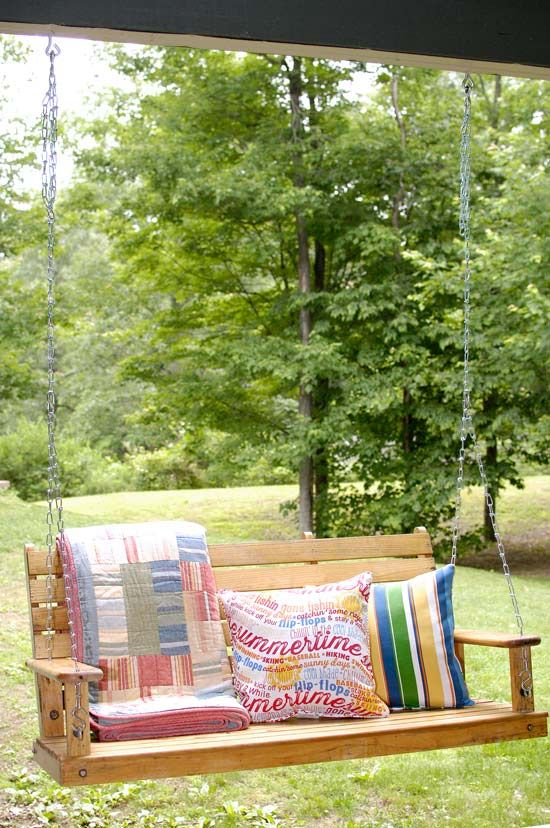 porch swing hanging tips porch swing patio inspiration on porch swing ideas inspiration id=92606