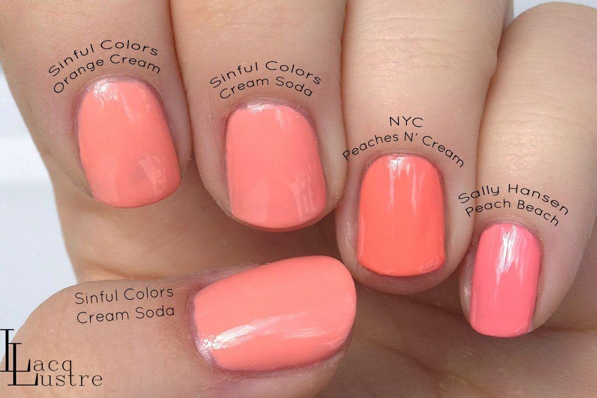 Sinful Colors Cream Soda Comparison Sinful Colors Nail Polish