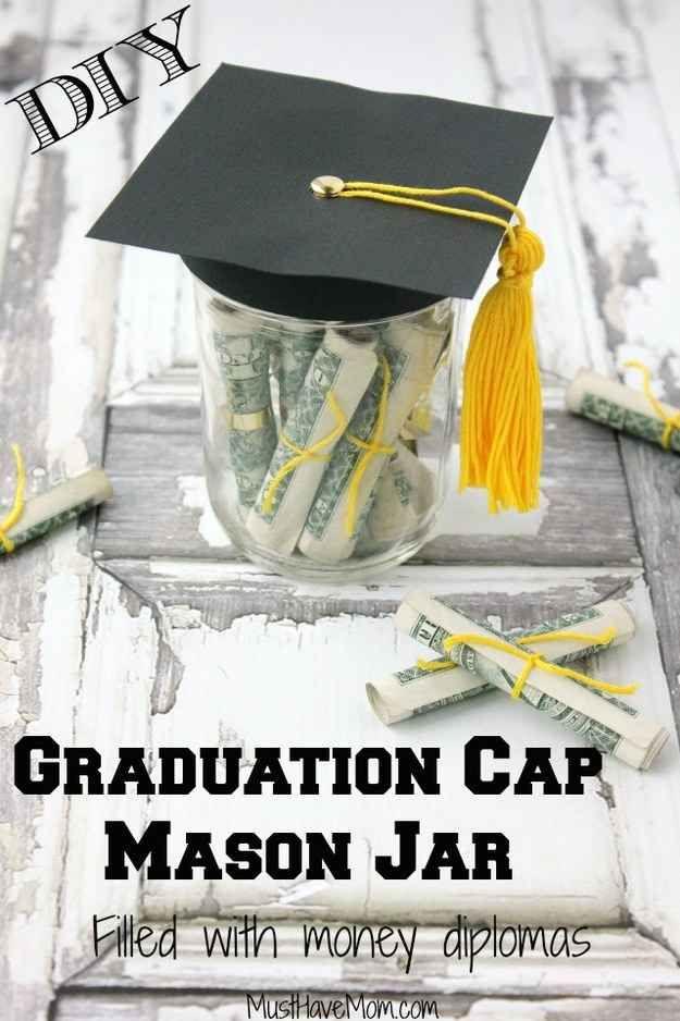 Make A Themed Mason Jar To Brighten Up A Last Minute Gift Diy Graduation Gifts Best Graduation Gifts Graduation Diy