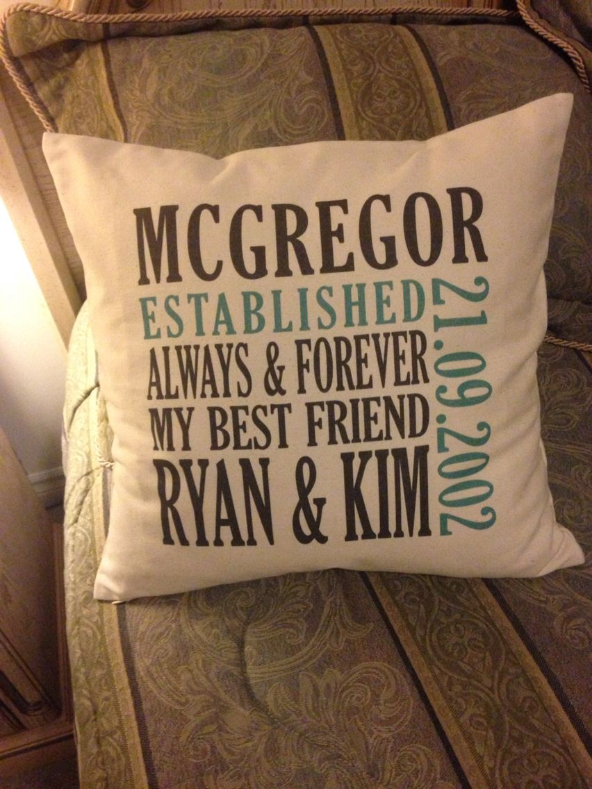 Thirty One pillow Wedding pillow Pillow with names and wedding date .mythirtyone.com & Canvas Pillow. Makes great wedding gifts! | Thirty-One Gifts ... pillowsntoast.com