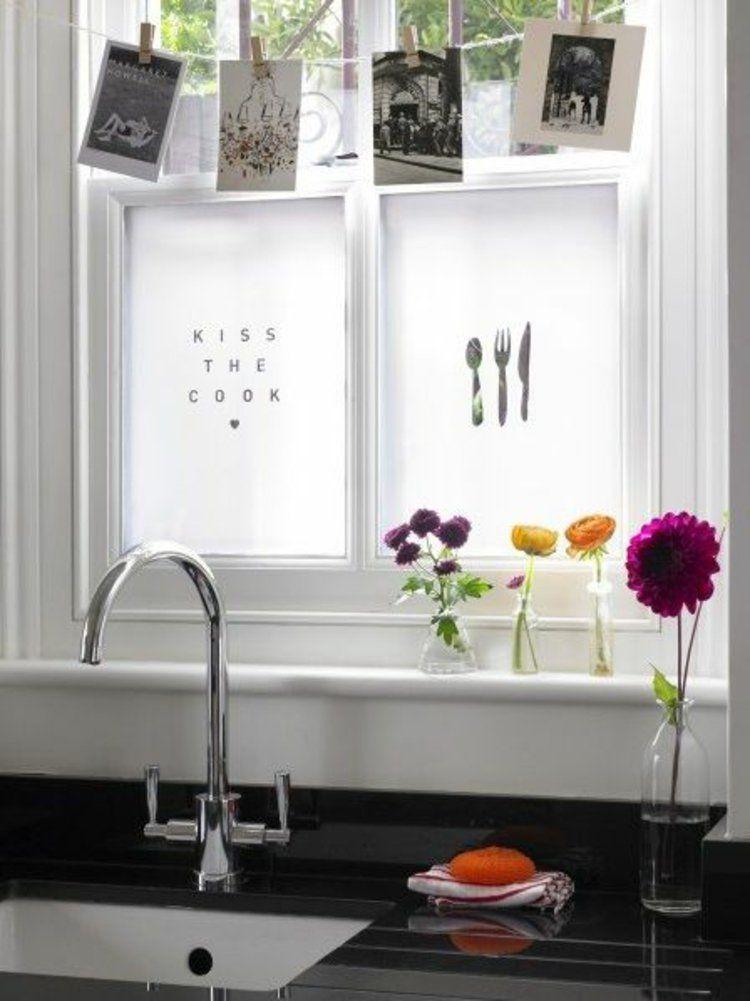 Schnittblumen als Deko am Fenster in der Küche Schönes für zu - fenster in der küche