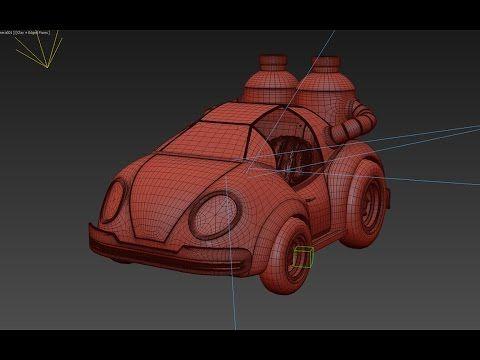 Урок 3d max моделирование машины / modelling car - YouTube