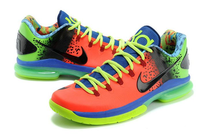 Anti Nerf Nike KD V Elite Customs by Rise Above Customs Sport Red Atomic  Green Volt bb900c22ef